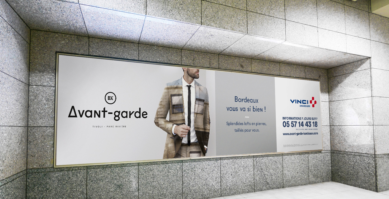 Affichage campagne Vinci Immobilier